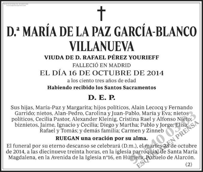 María de la Paz García-Blanco